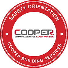 Cooper Builds Safety Sticker