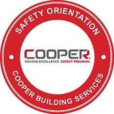 Cooper Builds Safety Sticker